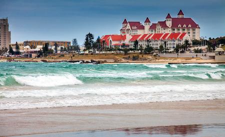 포트 엘리자베스 (Port Elizabeth) 남아프리카 해변에서 스톡 콘텐츠