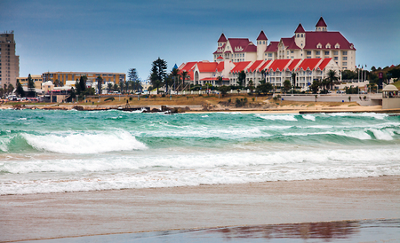 On the beach of Port Elizabeth South Africa