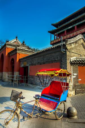 Rickshaw at Drum Tower in Beijing