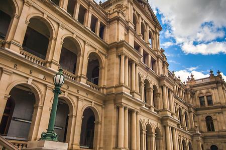 Treasury Building 브리스번 퀸즐랜드 호주 스톡 콘텐츠