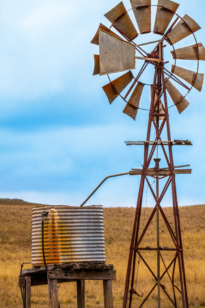 Texas wheel in Outback at Tumut New South Wales Australia Stock Photo