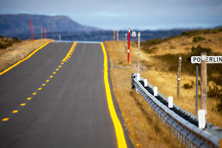 Highway in Outback New South Wales Australia Stock Photo