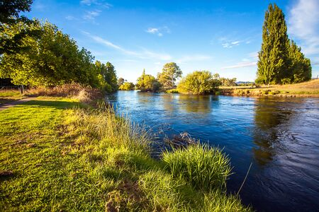 On the Tumut River Australia New South Wales Stock Photo