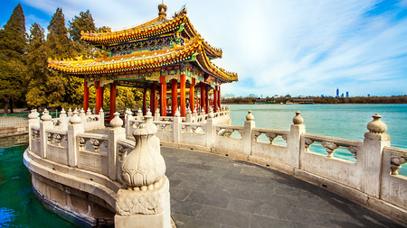 In the Beihai Park in Beijing China 스톡 콘텐츠