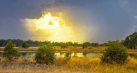 Thunderstorm in the outback at Dubbo New South Wales Australia