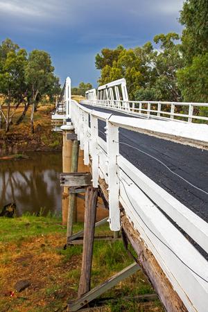 Rawsonville Bridge over the Macquarie River near Dubbo Australia