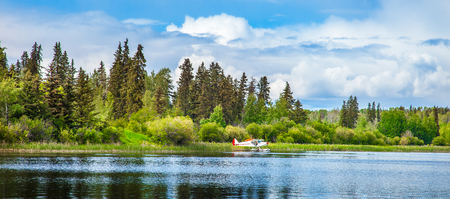 Floatplane at Dugan Lake at Williams Lake British Columbia Canada