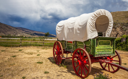 Oude wagen in British Columbia Canada Columbia