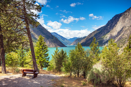 Seton Lake Reservoir B.C.Hydro British Columbia Canada