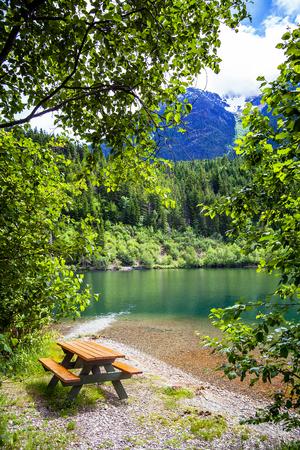 At Birkenhead Lake near Pemberton British Columbia Canada Standard-Bild - 116296108