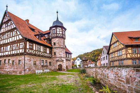 The downtown of Wasungen in Thuringia Germany on October 27, 2018 Stock Photo