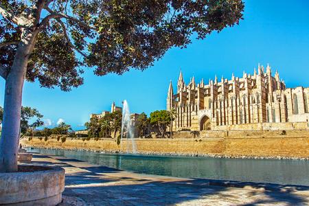Palma de Mallorca Majorka Hiszpania 12.22.2018 w katedrze La Seu