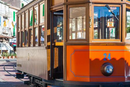 The Tram in Port de Soller Mallorca Spain