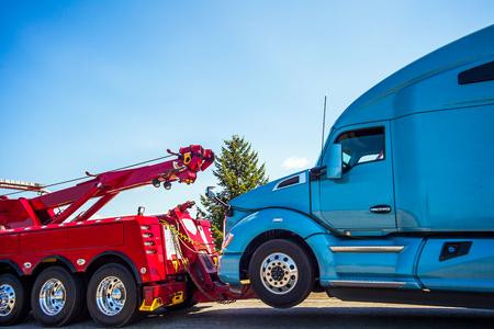 Avería de camiones y remolque en Seattle, Washington, EE.