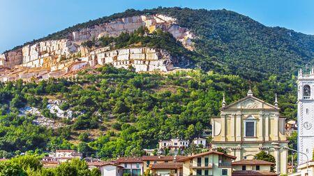 Marble quarry at Brescia Lombardy Italy Stock Photo - 132065511
