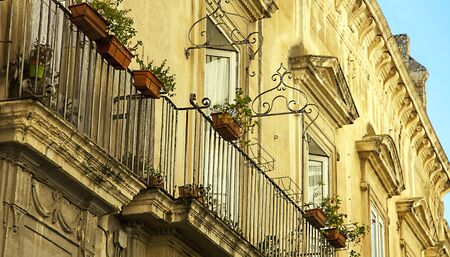 In the old town of Lecce Puglia Italy Фото со стока