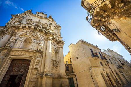 At the Church of San Matteo on Via dei Perroni Lecce Puglia Italy