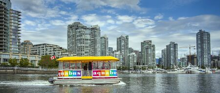 Vancouver British Columbia Canada on June 06, 2018 Aquabus on False Creek