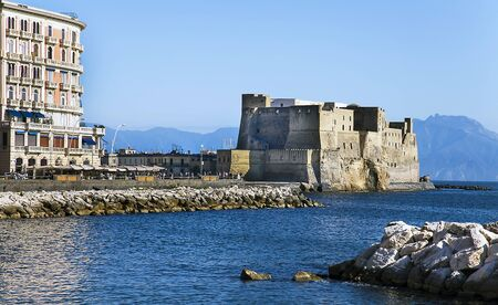 Naples, Italy The Castel dell'Ovo is a coastal castle in Naples, located on the former island of Megaride, now a peninsula, on the Gulf of Naples in Italy.
