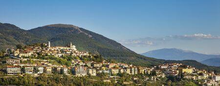View of Marsico Nuovo in the province of Potenza in Basilicata Italy Фото со стока
