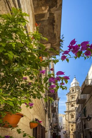 An alley in the old town of Monopoli Puglia Italy