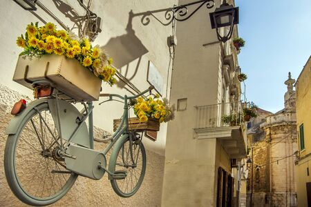 Alley in the old town of Monopoli Puglia Italy