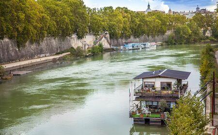 View over the Arno river in Rome Lazio Italy Фото со стока
