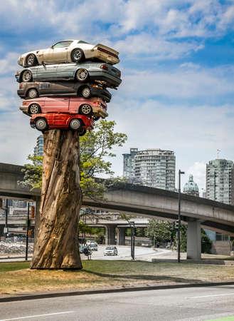 Scrap cars in Vancouver British Columbia Canada