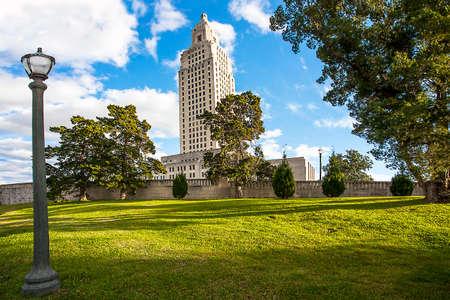 Louisiana State Capital Building Baton Rouge USA Фото со стока