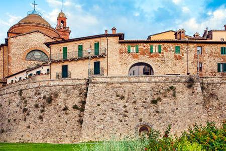 View of the old town of Castiglione del Lago Perugia Umbria Italy Редакционное