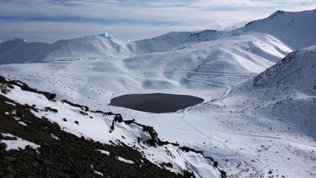 nevado: Nevado de Toluca crater covered with snow