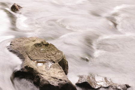 hydrobiology: long exposure  shot of small torrent