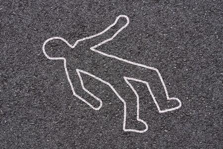 crime scene on street