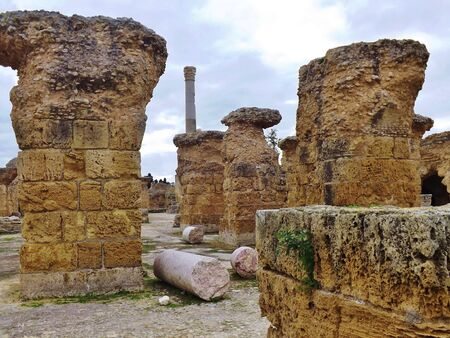 thermal spring: Tunisia, ruins of Carthage. The Antonine thermal spring complex.