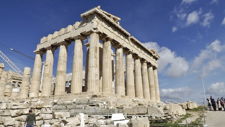 ATHENS, GREECE - MAY 1, 2014. The Parthenon of the Acropolis in Athens, Greece.