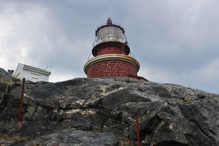 The highest-Placed lighthouse in Norway, on the isle of Utsira.