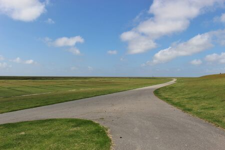 the wadden sea: Wide, open landscape in the Schleswig-Holstein Wadden Sea National Park, Northern Germany.