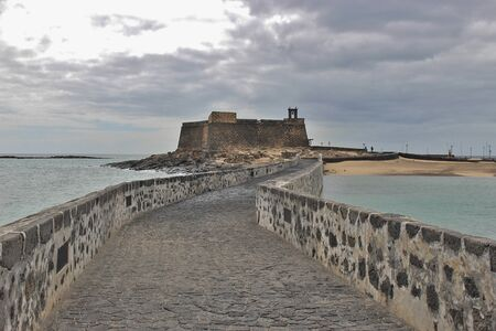 Castillo de San Gabriel in Arrecife, Capital of Lanzarote, Canary Islands, Spain Editorial