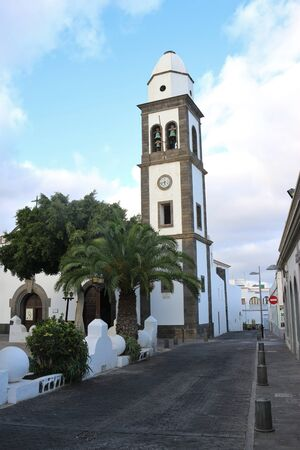 The church Iglesia de San Gines in Arrecife, Capital of Lanzarote, Canary Islands, Spain. Stock Photo