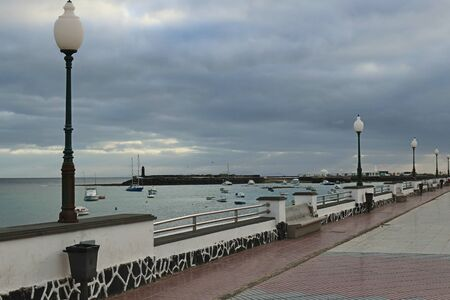 Promenade in Arrecife, Capital of Lanzarote, Canary Islands, Spain. Stock Photo