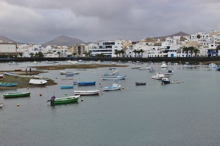 The lagoon Charco de San Gines in Arrecife, Capital of Lanzarote, Canary Islands, Spain.