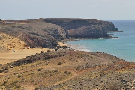 playa blanca: The beach Playa Pozo near the resort of Playa Blanca. South Lanzarote, Canary Islands, Spain.
