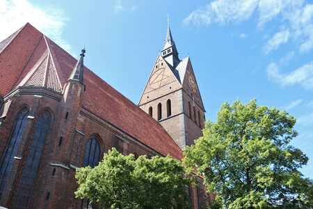The Market Church in Hannover, North Germany, Europe. The Evangelical Lutheran Church St. Georgii et Jacobi is a landmark of the City.