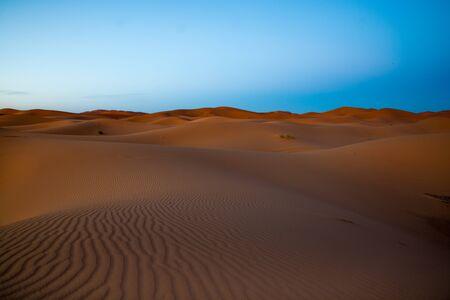 merzouga: Sahara Desert at Merzouga, Morocco Stock Photo