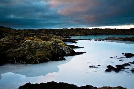 blue lagoon: Blue Lagoon, Islanda  Archivio Fotografico
