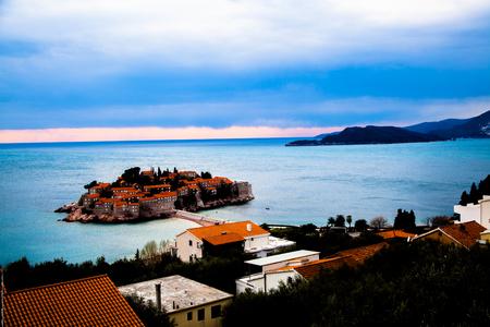 sveti: Sveti Stefan, Montenegro Stock Photo