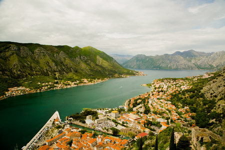 balkans: View of Kotor from San Giovanni Castle, Kotor