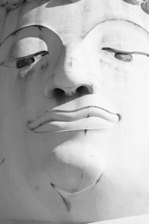extra large: THAILAND - July 31, 2016:Face, body sculpt statues The extra large Zoom clearly Stock Photo