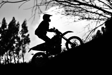 reorganize: Motorcycle silhouette Stock Photo