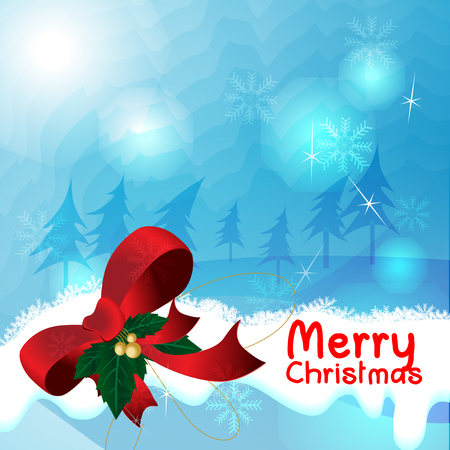 Merry Christmas Blue Background Vector